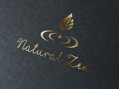 Natural Zen Logo salon essential oils drop water meditate meditation spa wellness logotipo logotype design logo logotypedesign logo design logodesign logotypes logos logotype nature logo zen natural