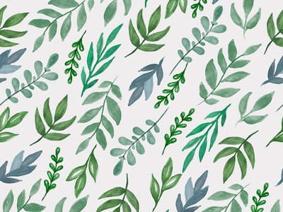 Beautiful watercolor seamless botanical pattern