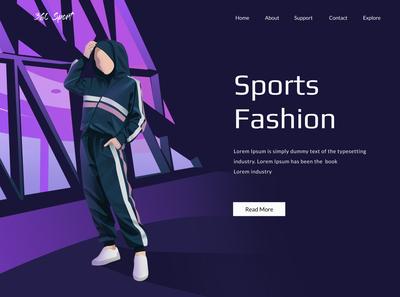 Landing Page Sport