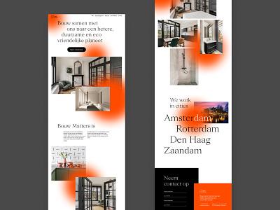 Bouw Matters — building repair and maintenance in the Netherland website desktop website design typography responsive design ux  ui design ui design interface ui