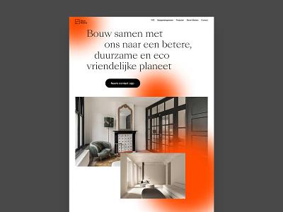 Bouw Matters — building repair and maintenance in the Netherland website desktop website design typography ux  ui responsive design design ui design interface ui