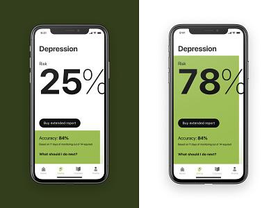 App for mental health mood psychology mental health green branding app mobile typography ux  ui design ui design interface ui