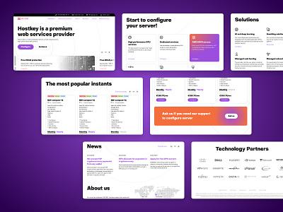 Hostkey technology cloud visual design orange violet website website design desktop responsive design typography ux  ui design ui design interface ui