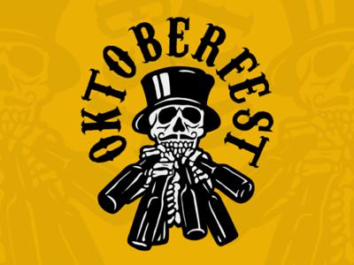 Oktoberfest Drunken Skull