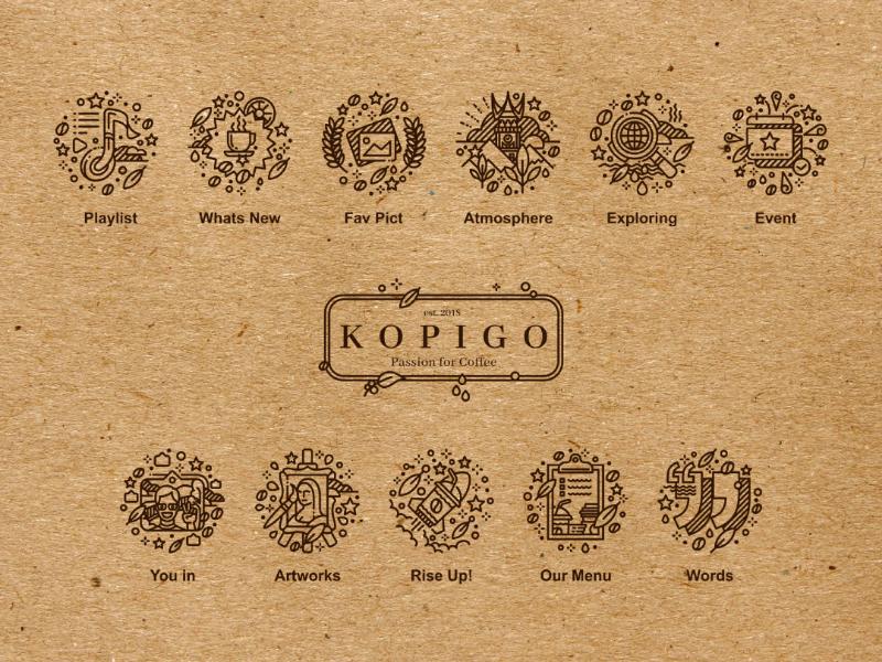 Kopigo Instagram Highlights Icon logo image vector highlight cover icon coffee