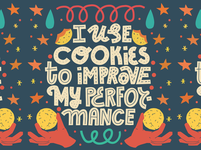 Cookie policy homemade baking popup policy experience website cookies quote card joke typography lettering illustration