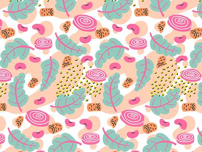 buddha bowl salad as a pattern veggies print pattern seamless food healthy salad branding design illustration