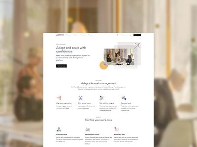 Enterprise page refresh asana brand design system iconography photography