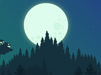 Moonlighting trees moonlight catbus after effects animation wip