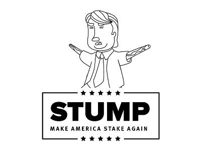 Stump puns presidential candidate trump