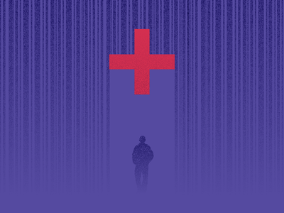Under care cross healthcare rain illustration editorial aca
