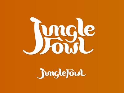 JungleFowl Logotype logomark branding logo lettering logotype scipt