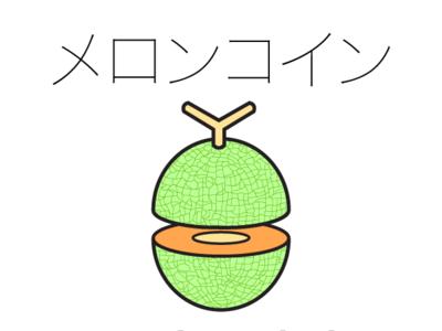 Meloncoin Katakana katakana illustration branding design logo