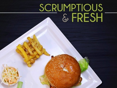Scrumptious & Fresh Cheese Burger