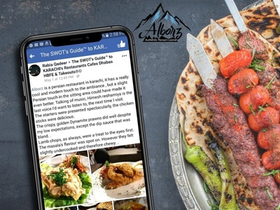 Alborz - In Facebook SWOT's Guide to Karachi Review Design Post