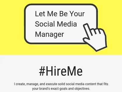 #Hire_Me LET ME BE YOUR SOCIAL MEDIA MANAGER