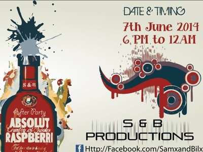 S&B Production Party Invitation