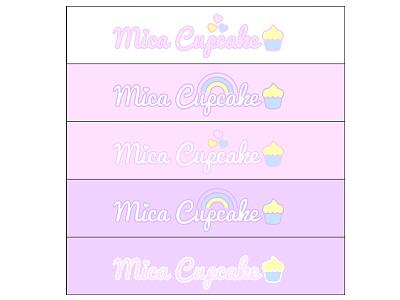 Mica Cupcake logo concepts hearts rainbow cupcake pastel colors logodesign logos logo
