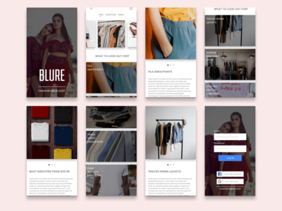 Blure - Fashion App Design Concept