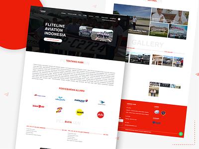 Fliteline School - Web Company Profile airplane plane fliteline website uxresearch uiuxdesign uiux uidesigns webdesign indonesia figma companyprofile flitelineschool