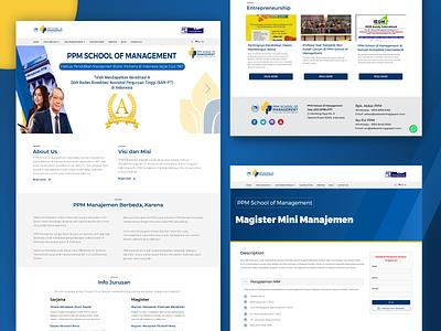 School Of Management - University Website branding logo illustration campus management university companyprofile uidesigns uxresearch uiux figma uiuxdesign webdesign