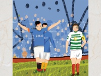 Football Children Book Illustration