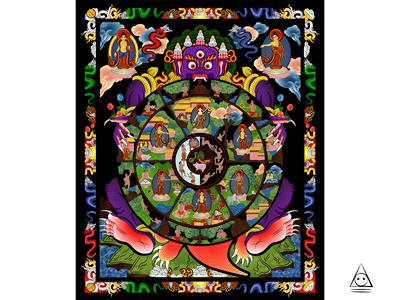 Buddhist Wheel Life