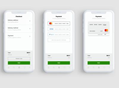 Online shop checkout page