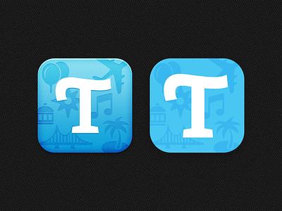 Travelog — Icon iOS6 vs iOS7 travelog iphone travel app icon flat ios ios7