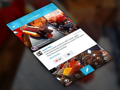 Travelog — Feed travel feed app iphone ios ios7 tab
