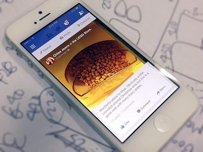 Facebook Feed facebook iphone app ios7 redesign flat
