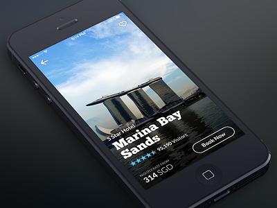 Travelog — Hotel Information iphone ios7 hotel app blur nav travel