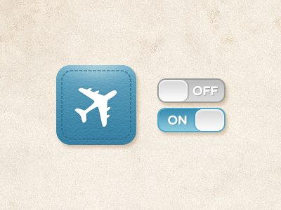 Icon & Switch for iPhone App iphone travel ui app icon switch