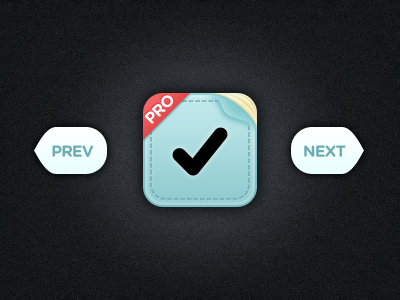 iPhone ToDo (Icon & Buttons) todo icon iphone app button