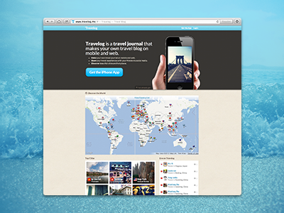Travelog Website travelog website iphone travel web map photo