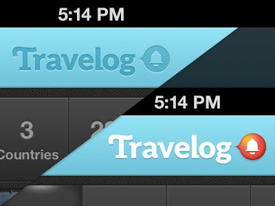 Status for Notifications travelog iphone travel app notify notification navigation bar