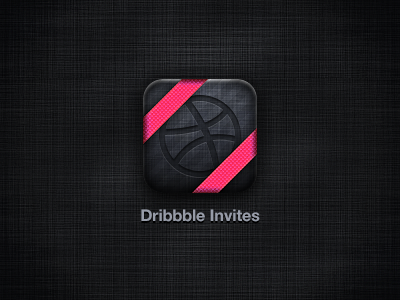 Dribbble Invites Icon iphone icon dribbble invite giveaway gift present