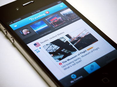 Travelog — Timeline Feed travel app ios iphone travelog
