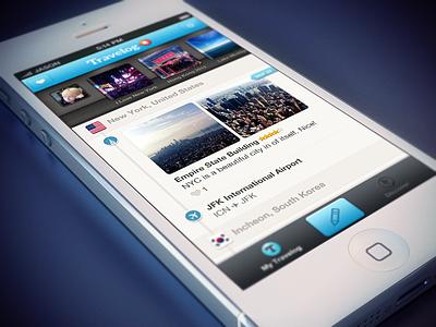 Travelog — Timeline Feed (edits) travel app ios iphone travelog timeline