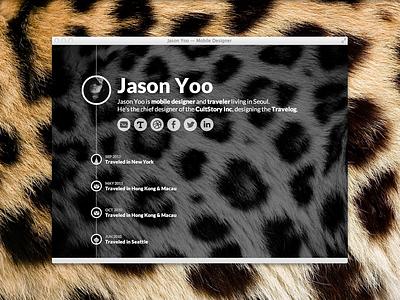 My Timeline jason yoo timeline web