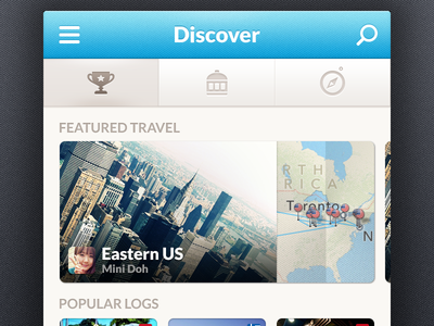 Travelog — Discover travelog iphone app ios travel