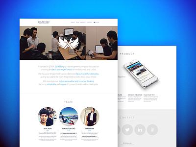 Company Website company website cultstory css html