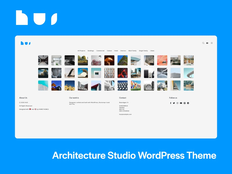 HUS - Architecture Studio WordPress Theme