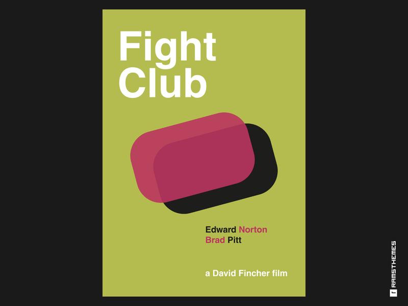FIGHT CLUB - Minimalist Swiss Style Movie Poster