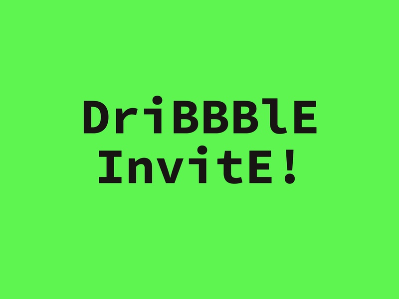 Dribbble Invitation #7 minimalistic draft day green typography graphic design dribbble best shot dribbble dribbble invitation dribbble invite invites invite draft design