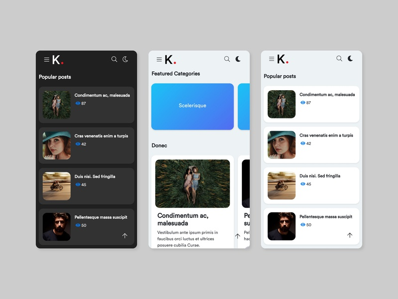 KANE - New WordPress Template Project Draft Shot rounded corners frontend development template design template mobile ui mobile frontend design interface design ui ux web wordpress design wordpress theme typography minimalistic graphic design design