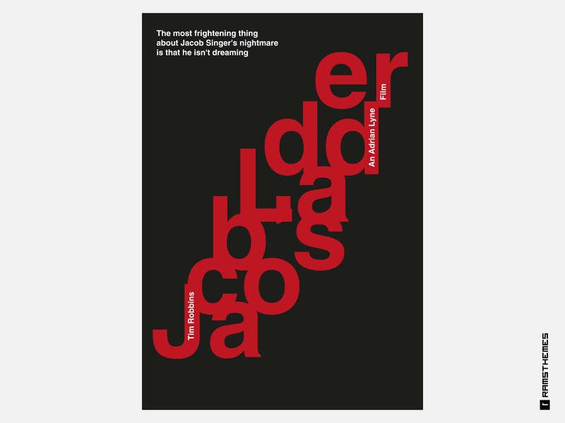 Jacob's Ladder - Minimalist Swiss Style Movie Poster horror psychology big swiss poster swiss style swiss poster art poster design poster movie poster classic jacob ladder helvetica movies typography minimalistic graphic design design