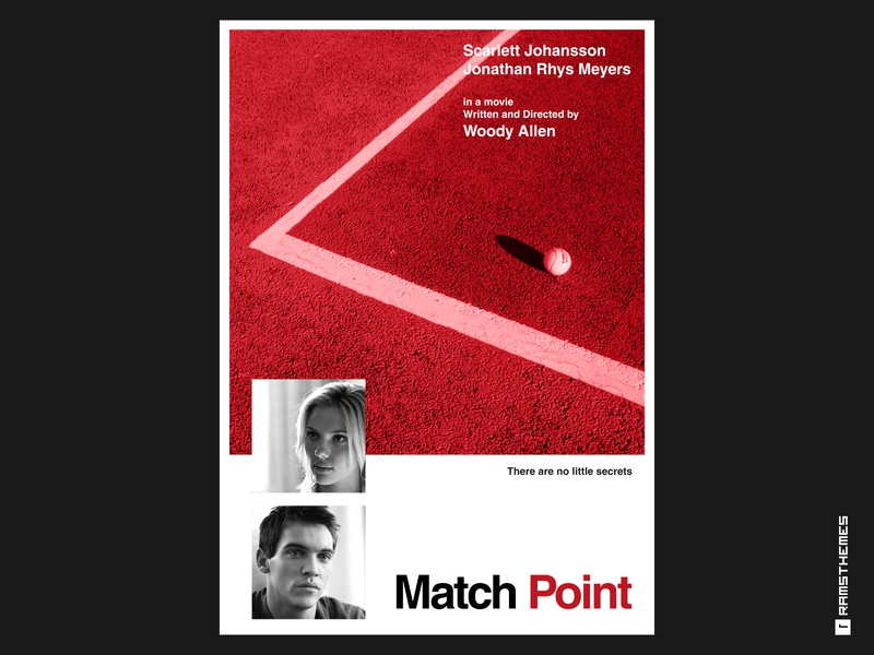 Match Point - Minimalist Swiss Style Movie Poster thriller woody allen scarlett johansson poster design movie poster swiss style swiss poster helvetica posters poster movies typography minimalistic graphic design design
