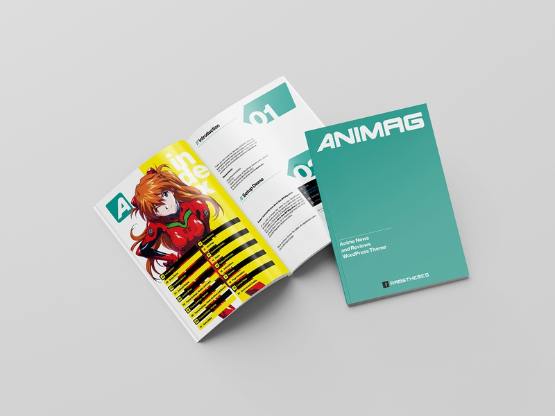 ANIMAG - Anime and Manga Magazine WordPress Theme anime design graphic design minimalistic typography wordpress theme wordpress design web ui ux interface design editorial design pdf read documentation manual user experience user news editorial