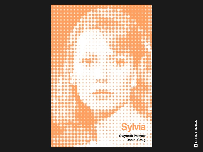 Sylvia - Minimalist Swiss Style Movie Poster woman poetry biography drama poster halftone swiss poster swiss style poster design helvetica movies typography minimalistic graphic design design